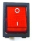 W491 - Grimac On-Off lighted switch (Red)
