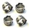 NF11.052 Oetiker Clamps, Set of 4, D=7.4 mm.