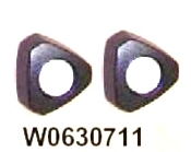 W0630711/2 - Wilch Dispensing D-Knob (pair)