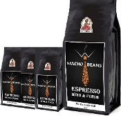 Macho beans Premium Blend of Espresso beans. Buy 12x4-Oz., Get 4x4-Oz Free Bag & Free shipping