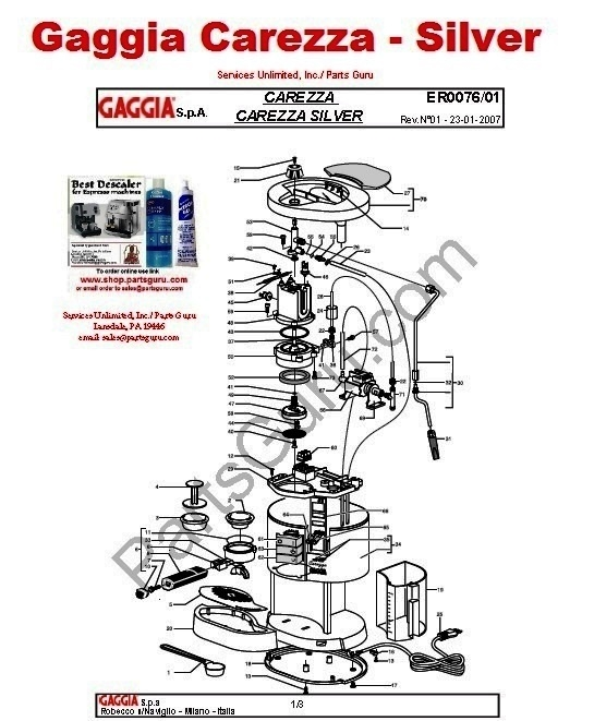 Gaggia Carezza Silver diagram display worcester boiler parts diagram dolgular com blodgett ef 111 wiring diagram at gsmx.co