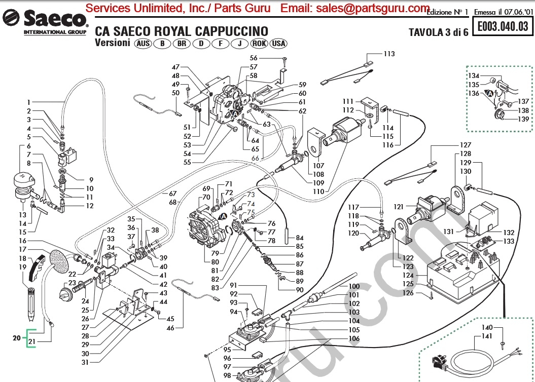 saeco royal cappuccino wiring diagram