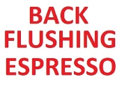 Back flushing home espresso machines