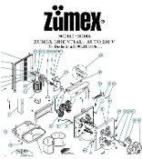 Zumex model Z200 Versatile Parts diagram