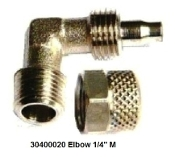 "30400020 Male Elbow 1/4""M 6-mm tube Battery"