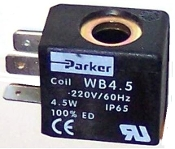 WB4.5 - Parker Solenoid Coil 115V, 50/60 Hz. Dimension: 22 mm Wide x 32 mm Deep x 30 mm High,