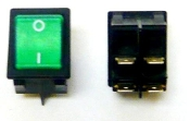 435061 LaPavoni BiPolar lighted green Switch (22x30mm)