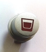 Button, 1-Cup coffee. Use for Saeco Aroma/Via Venezia Redesigned Silver