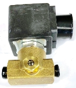 "Adjustable 2-way solenoid valve 120V 1/8"" FF threads"