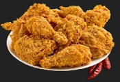 Nano's Fresh cooked Halal Fried Chicken 20-pcs plate.