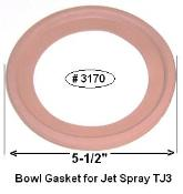 "S3170 - Jet Spray TJ3 Bowl Gasket 5-1/2"" dia"